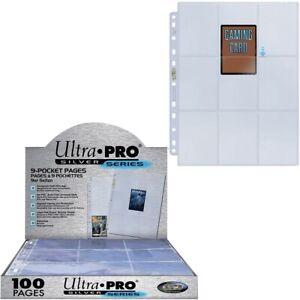 Ultra Pro boite de 100 feuilles Silver à 9 Cases pour Classeurs A4 carte Pokemon