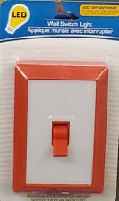 led wall switch night light reading light wall battery operated or white