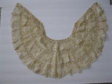 Antique Victorian Lace Ivory Cream Collar Caplet