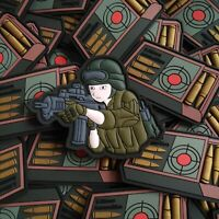 Airsoft Pew Pew Troops Anime Army Military Combat Patch