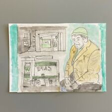 More details for mm212 sitting in the cafe mystery masterpieces postcard art figure 15cm x10.5cm