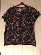 Joe Browns Blue Flower Patterned Short Sleeved Top Size 20