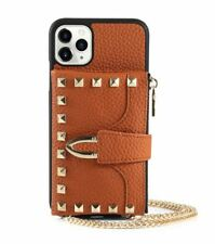 Brown Studded Iphone Case Rivet