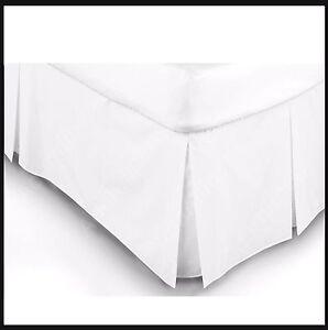 100% EGYPTIAN Platform Base PLEATED VALANCE Sheet WHITE Color 200 TC   ALL NEW