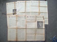 1942 FAENZA LOTTO DI 5 GIORNALI CATTOLICI IL NUOVO PICCOLO CON NOTIZIE DI GUERRA