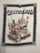 Grateful Dead 1989 Vintage XL Tour Shirt Castle Of Cards Skulls Bones Rose PA MI