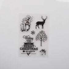 Klare silikon stempel diy scrapbooking weihnachtsgeschenk schneemann fotoalbum*