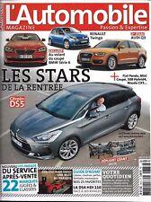 L'AUTOMOBILE MAGAZINE N°783 AOUT 2011  STARS RENTREE_GUIDE ACHAT_VOTRE QUOTIDIEN