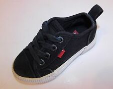 Levis Boys Causal Canvas Sneakers Shoes Black SIZE 7