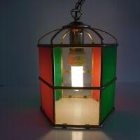 Suspension lustre lanterne art-déco moderne vintage fait main France