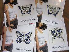 1 x Random Dark Blue Butterfly Stick On Crystal Temporary Tattoo Body Jewellery
