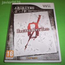 Nintendo Wii PAL version Resident Evil Zero