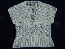 Crema De Encaje Crochet Top O Chaleco