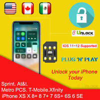 Cell-Unlock CHIP iPhone Sprint ATT TMOBILE 5S SE 6 6S 7 8 Plus X Turbo R SIM