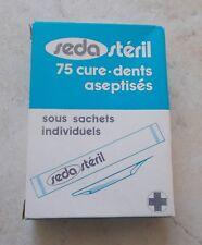 Ancienne Boite en Carton Seda Stéril 75 cure dents aseptisés