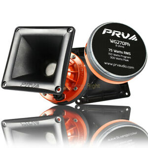 """2 Pack PRV 4x4"""" Compression Driver Horn Combo 2"""" VC 150W Max WG270PH High Spl"""