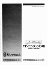 Sherwood CD-2030C CD-3030R CD Player Owners Instruction Manual