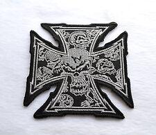 Iron Cross, patch, écusson, aufbügler, Chopper, Iron On, badge, harley, moto