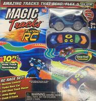 Magic Tracks RC Remote Control Turbo Race Car Glow in the Dark w/ 10ft Track NEW
