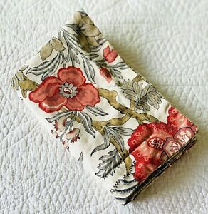 Pottery Barn Alllegra Palampore Linen Blend Standard Pillow Sham ~ EUC Floral