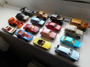 Majorette job lot x16 1970s-80s vintage toy cars serie 200 etc, Renault, Peugeot