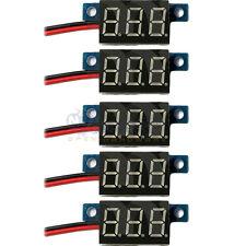 5x Mini DC 0-30V 2-Wire Voltmeter Red LED Display Volt Meter Digital Panel Meter