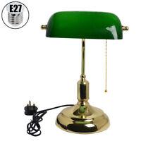 Green Desk Light Table Lamp Reading Tabletop Banker Office Working Retro Elegant