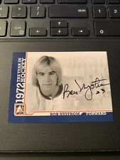 2009 In The Game BOB NYSTROM 1972 The Year In Hockey Autograph #A-BN