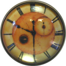 1 inch Crystal Dome Button Clock Face #6 FREE US SHIPPING