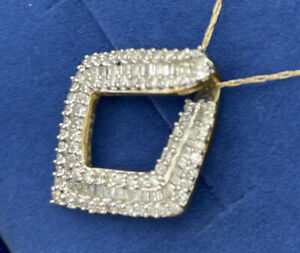 10 KT Yellow Gold  DIAMOND Necklace 1.00 CTW   New with Tag  JZ02575