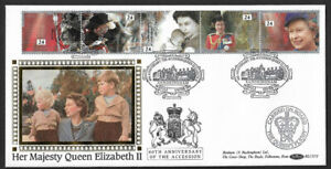 GB 1992 40th Anniversary Accession Benham Official First Day Cover Sandringham