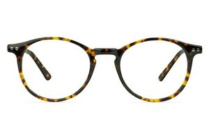 Liverpool Round Acetate Tortoiseshell Glasses w Keyhole Bridge Design 46-19-147