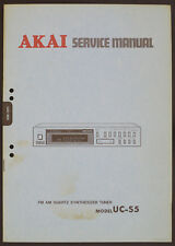 AKAI uc-s5 Original Quartz synth. Tuner service-manual/Diagram/Parts list o169