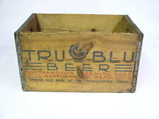 Antique TRU BLU Beer Wood Carrier Crate Northampton, Pennsylvania Dutch Beer