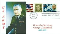 General GEORGE C. MARSHALL,US Army WW II General Portrait Cachet First Day PM
