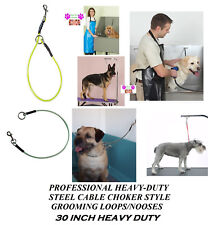 """Pro Grooming Heavy Duty Steel 30"""" Cable Choker Loop Noose for Table Arm,Bath Dog"""