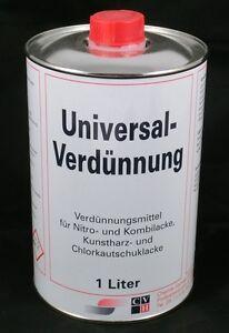 (3,79€-3,17€/L) Nitroverdünnung Universalverdünnung 1L Pinselreiniger Verdünnung