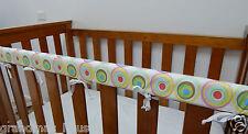 Baby Cot Crib Rail Cover Teething Pad Retro Circles On White ***REDUCED***