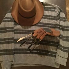 Freddy Krueger Costume Kit with Glove Sweater and Hat - Nightmare on Elm Street