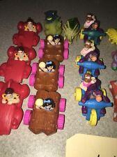 Vintage Fred Flintstone Plastic Figurine Vehicle Ucs Amblin Bedrock plus others