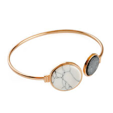 Hot Fashion Marble Pattern Gold Plated Charm Bracelet Cuff Bangle Jewelry Gift