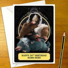 NIFFLER Personalised Birthday Card - nifflers fantastic beasts and personalized