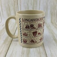 Longaberger Pottery Collectable Coffee Mug Tea Cup ABC Alphabet Baskets Holy Cow