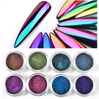 Nail Glitter Powder Mirror Chameleon Nail Art Chrome Pigment Manicure Decoration