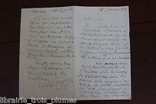 ✒ L.A.S. Lucien FUGèRE baryton belle lettre à un compositeur - Robespierre