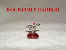 ROCKPORT HARBOR MINIATURE HORSE RACING FIGURINE HAND PAINTED FIGURE