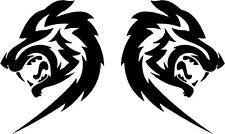 Tribal Wolf Head Car Camper Van Window Stickers Decals