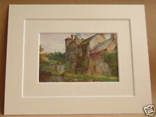 THE PALACE WELLS SOMERSET VINTAGE DOUBLE MOUNTED PRINT 10X8 OVERALL W. TYNDALE