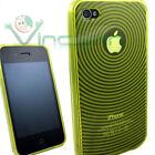 Custodia cover soft RAGGI GIALLA per Apple iPhone 4 4G giallo aderente