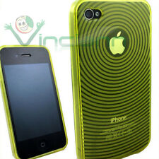 Custodia cover soft RAGGI GIALLA per Apple iPhone 4 4G giallo aderente